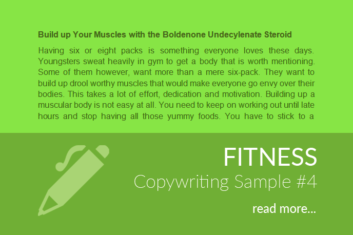 Fitness Copywriting