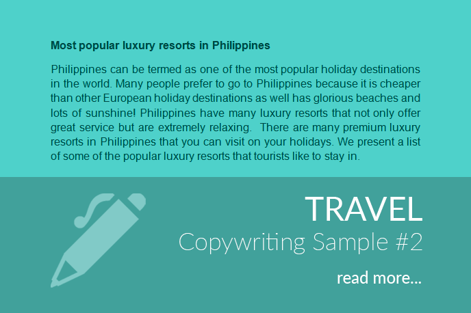 Travel Copywriting
