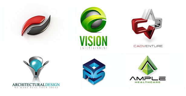 3D logo design samples